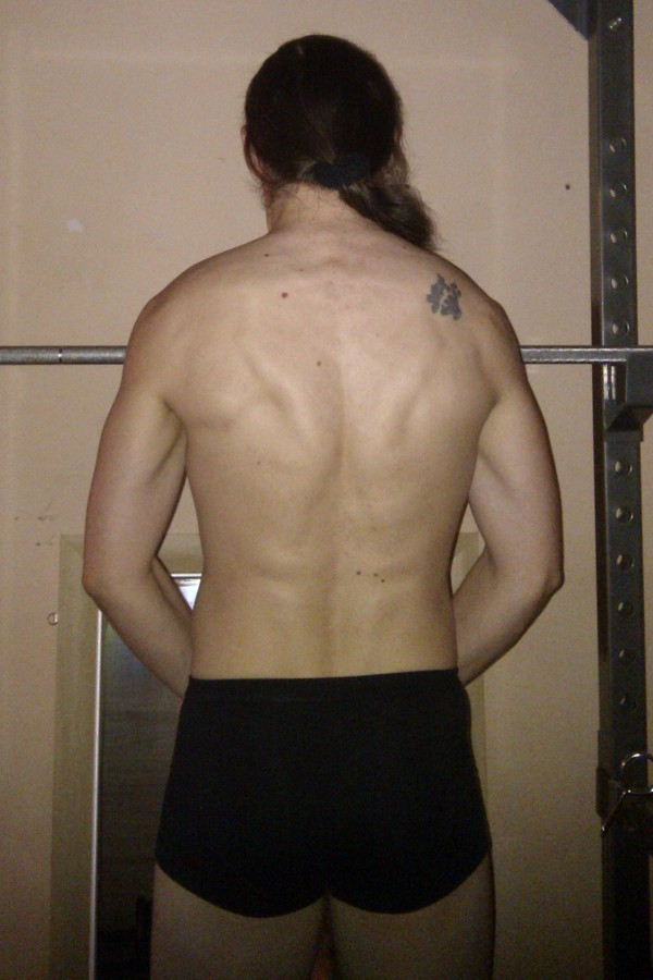 Photo of my back, tensed