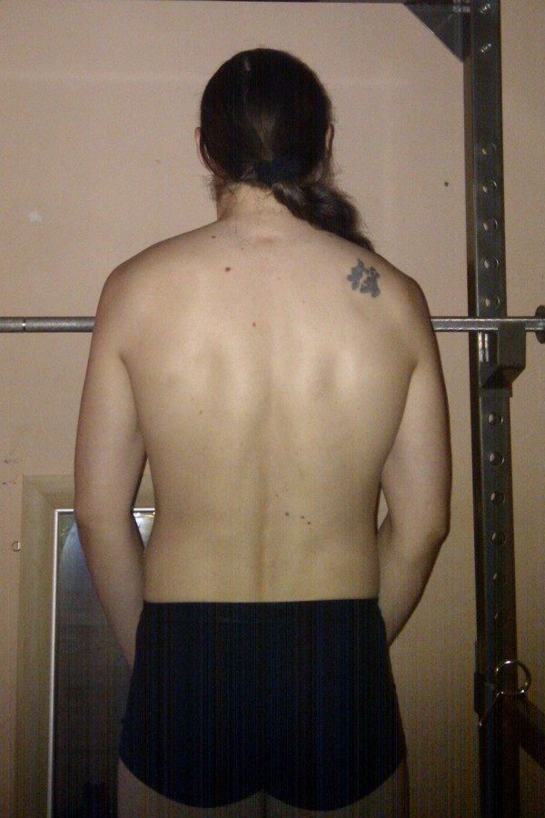 Photo of my back, relaxed